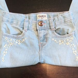 Girl's embroidered denim